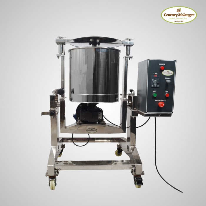Tilting Chocolate Melanger Standard 100Kg - with speed controller
